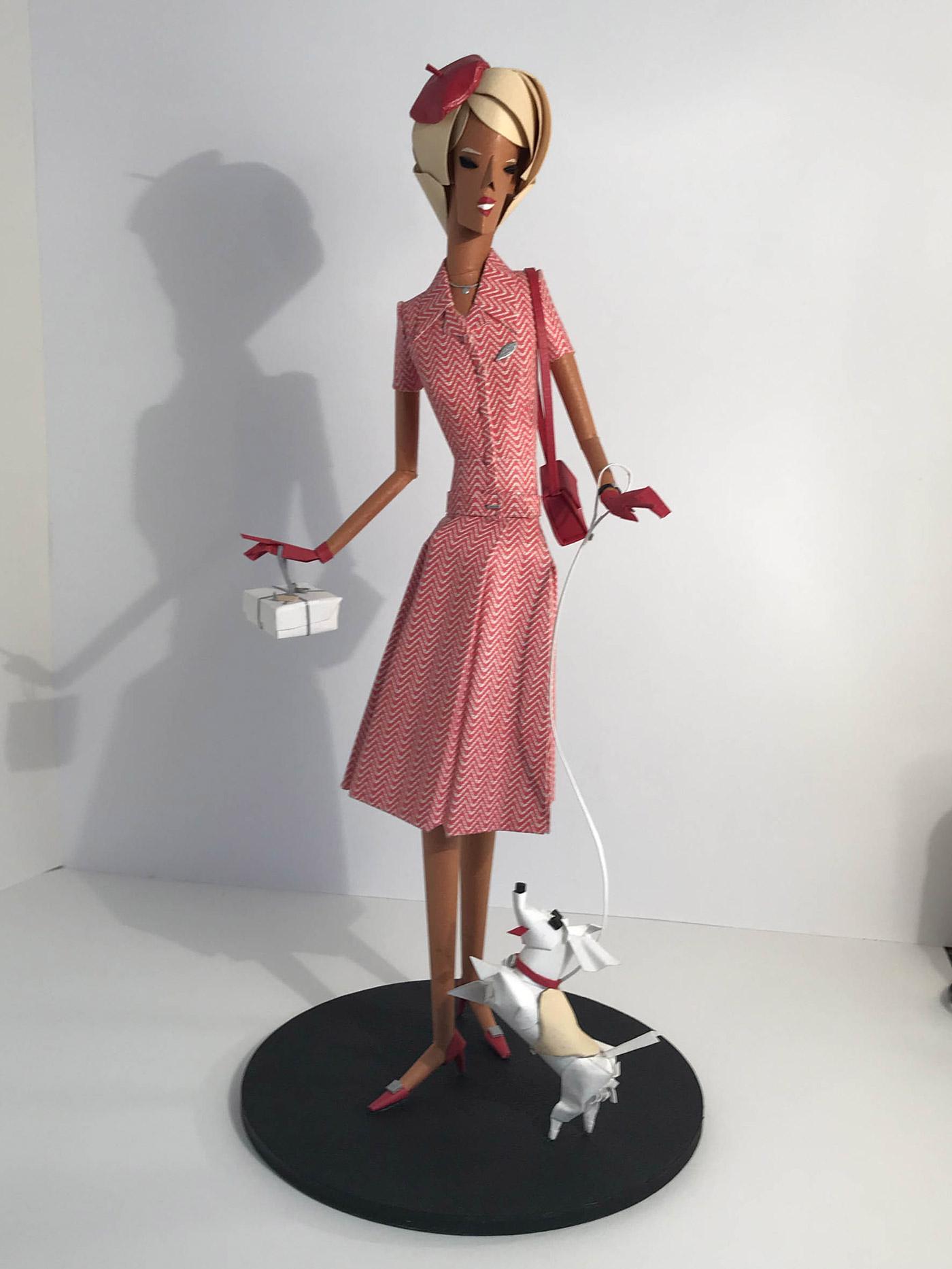 Fred-3-Dame-a-la-robe-rouge-a-galerie-bettina-art-contemporain-paris